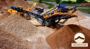 Aggregate Delivery - Shoreline's material sourcing strategically located for quick, cost-effective delivery