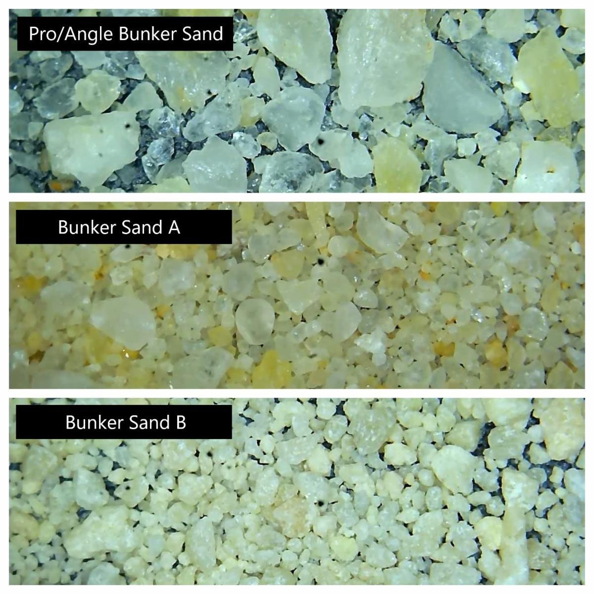 Shoreline Aggregate Pro/Angle Golf Course Bunker Sand Examples
